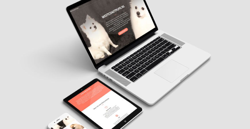One page website Westcoastpups